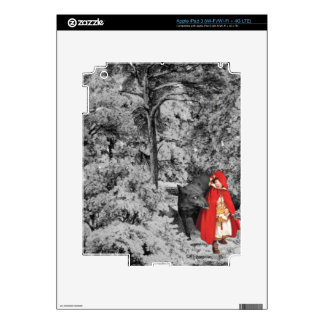 Red Riding Hood and the Wolf (BW) Skin For iPad 3