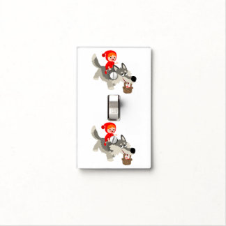 Red Riding Hood And The Wolf Light Switch Cover