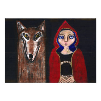 Red Riding Hood and the Wolf Photo Art