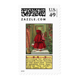 Red Riding Hood at the Door Postage Stamps