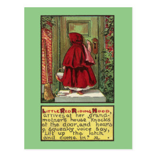 Red Riding Hood at the Door Postcard