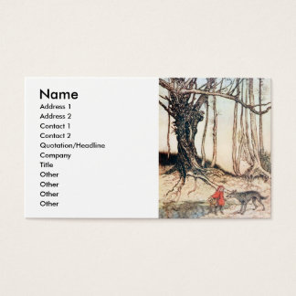 Red Riding Hood Business Card