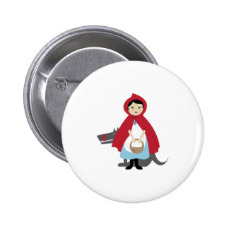 Red Riding Hood Pinback Buttons