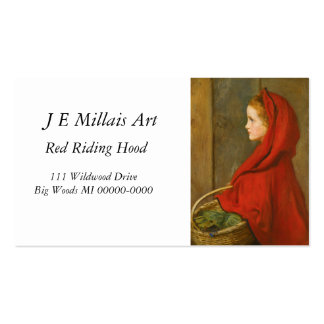 Red Riding Hood by Millais Double-Sided Standard Business Cards (Pack Of 100)