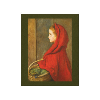 Red Riding Hood by Millais Canvas Print