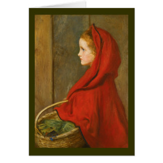 Red Riding Hood by Millais Card
