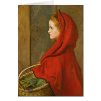 Red Riding Hood by Millais Greeting Card