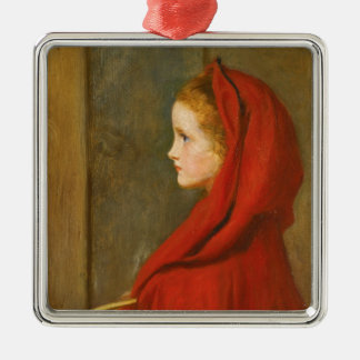 Red Riding Hood by Millais Metal Ornament