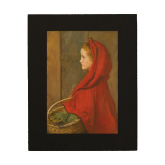 Red Riding Hood by Millais Wood Wall Art