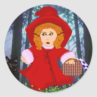 Red Riding Hood Classic Round Sticker