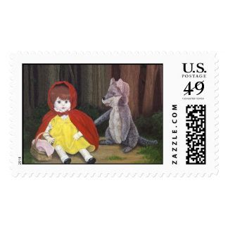 Red Riding Hood Dolls Stamp by Nathan Lee James