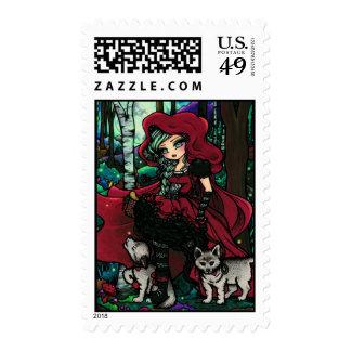 Red Riding Hood Fairytale Fairy Art Stamp