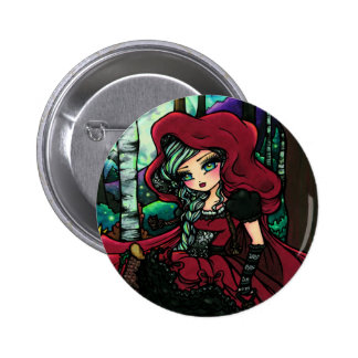 Red Riding Hood Fairytale Fairy Fantasy 2 Inch Round Button