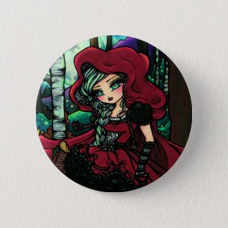 Red Riding Hood Fairytale Fairy Fantasy Pinback Button