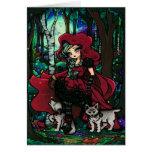 Red Riding Hood Fairytale Fantasy Art Greeting Card