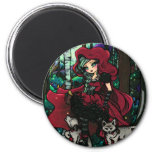 """""""Red Riding Hood"""" Fairytale Magnet"""