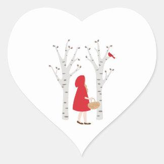 Red Riding Hood Heart Sticker