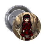 """""""Red Riding Hood in Autumn"""" Button"""