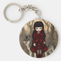 art, fantasy, eye, red riding hood, little, red, riding, hood, wolf, wolves, dog, dogs, wolfdog, wolfdogs, autumn, fall, leaves, fairy, tale, fairytale, fairytales, fairy tale, eyes, big eye, big eyed, jasmine, becket-griffith, becket, griffith, jasmine becket-griffith, jasmin, strangeling, artist, goth, gothic, gothic fairy, faery, fairies, faerie, Keychain with custom graphic design
