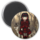 """""""Red Riding Hood in Autumn"""" Magnet"""