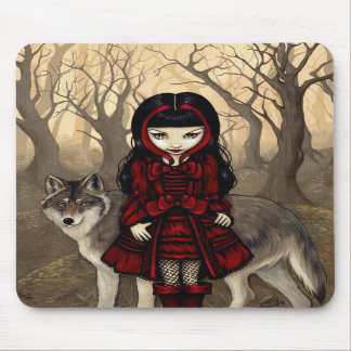 """""""Red Riding Hood in Autumn"""" Mousepad"""