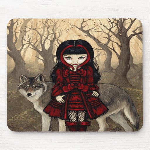 """Red Riding Hood in Autumn"" Mousepad"