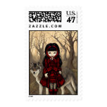 """""""Red Riding Hood in Autumn"""" Stamp"""