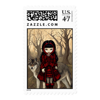 """Red Riding Hood in Autumn"" Stamp"