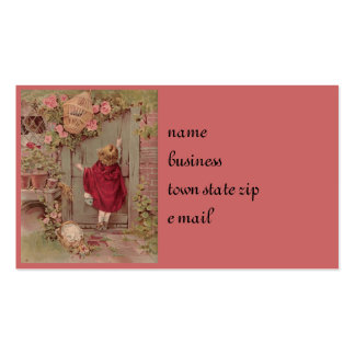 Red Riding Hood Knocks on the Door Business Card Template