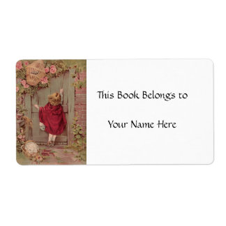 Red Riding Hood Knocks on the Door Label