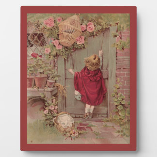 Red Riding Hood Knocks on the Door Plaque