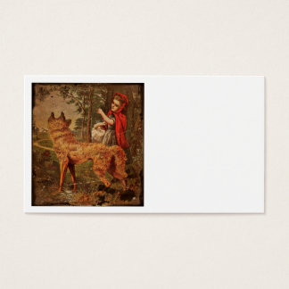 Red Riding Hood Meets Wolf Business Card