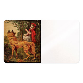 Red Riding Hood Meets Wolf Double-Sided Standard Business Cards (Pack Of 100)