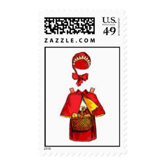 Red Riding Hood Paper Doll Postage