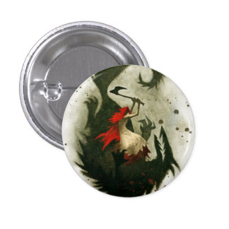red riding hood pinback button