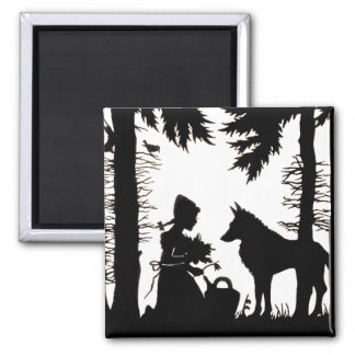 Red Riding Hood Silhouette Magnet
