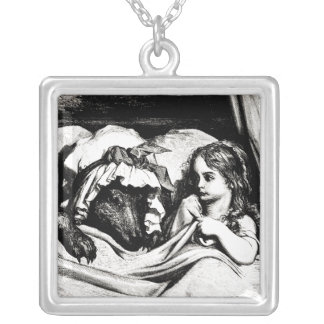 Red Riding Hood Silver Plated Necklace