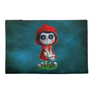 Red Riding Hood Sugar Skull Travel Accessories Bag