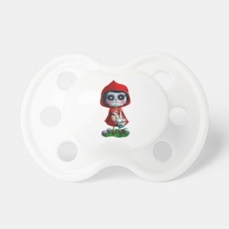 Red Riding Hood Sugar Skull Baby Pacifiers