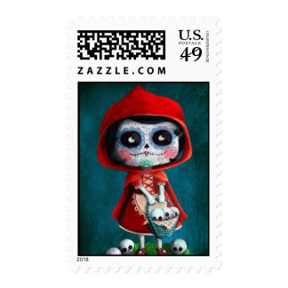 Red Riding Hood Sugar Skull Stamps