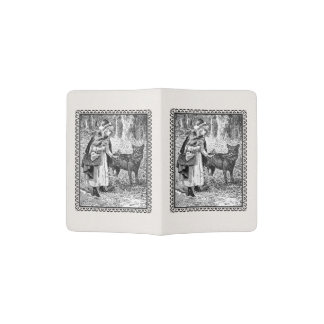 Red Riding Hood Traveling Through Woods Wolf Passport Holder