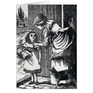 Red Riding Hood Vintage Card