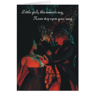 Red Riding Hood Werewolf Halloween Greeting Card