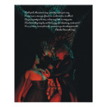 Red Riding Hood Werewolf Poster with Perrault Poem