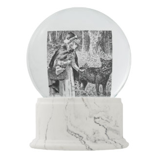 Red Riding Hood With Wolf Fairy Tale Snow Globe