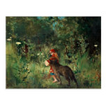 Red Riding Hood with Wolf Postcard
