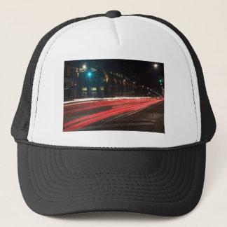 red riding trucker hat
