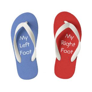 4e6a92462 Red Right - Left Blue Kid s Flip Flops