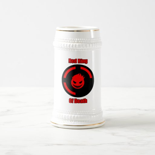 Red Ring of Death 18 Oz Beer Stein
