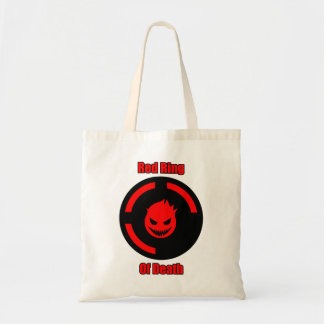 Red Ring of Death Tote Bag